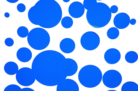 instigator: Blue circle paper  Stock Photo