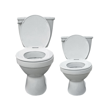 Two new toilet bowl isolated on white