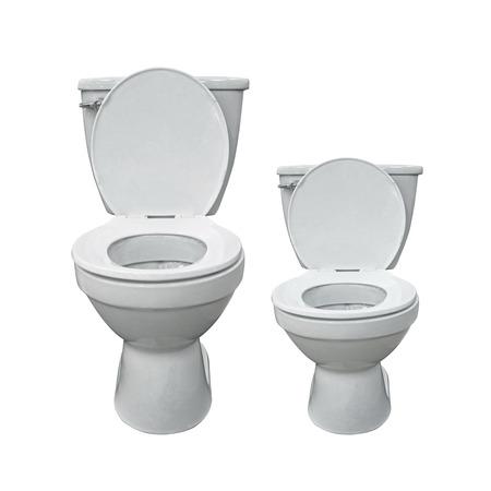 Two new toilet bowl isolated on white Stock Photo - 23989734