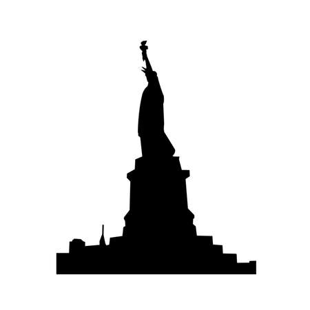 Statue Of Liberty Black Shadows Silhouette photo
