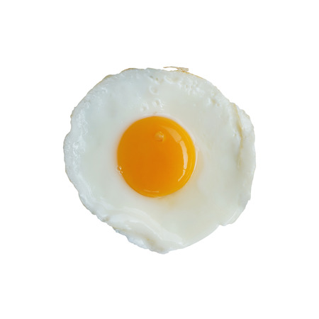 fried egg isolated Banco de Imagens