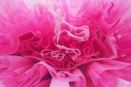 Beautiful layers of delicate pink fabric Banco de Imagens