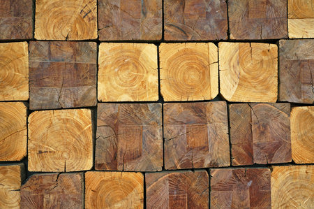 wood block: Stacked Logs Texture, Natural
