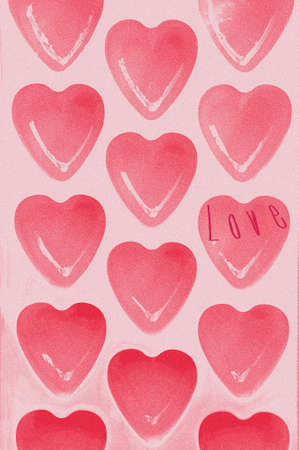 hearts texture background photo