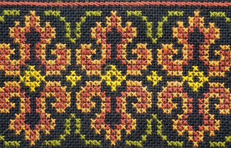 embroidered good by cross-stitch pattern  Stock fotó