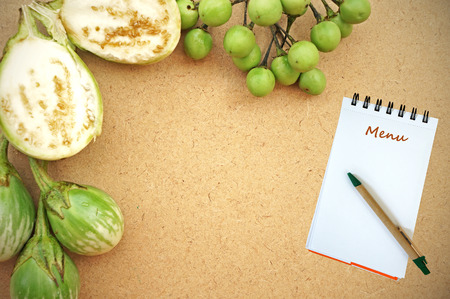 Notebook for recipes with green tomatoes photo