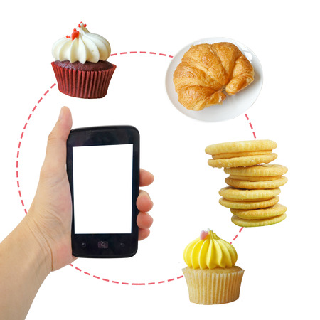 Bakery delivery concept  call to order  photo