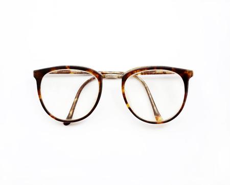 ojos negros: gafas vintage aislados en un blanco Foto de archivo