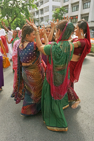 silom: BANGKOK - JUNE 22 : Hindu Festival (Rahu Ketu Peyarchi) at Silom street Bangkok Thailand on 22 June 2014.