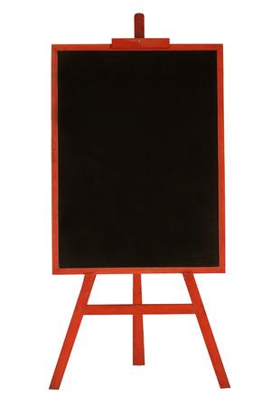 Blank Menü Tafel in roten Holzrahmen isoliert auf weißem Hintergrund Standard-Bild - 30798032
