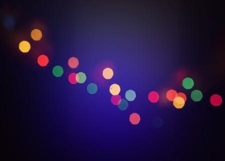 Lights on dark blue background. photo