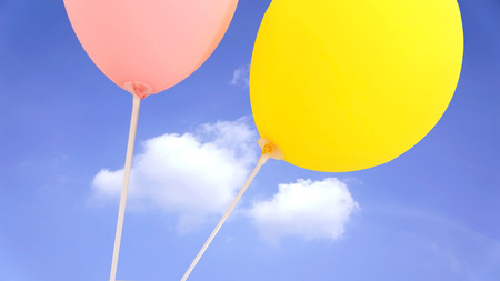 Bunch of balloons on a blue sky
