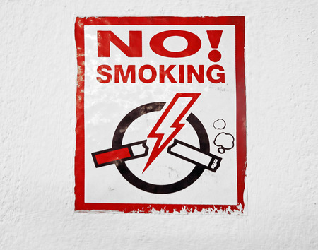 obey: No smoking sign
