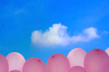 balloons and sky as background photo