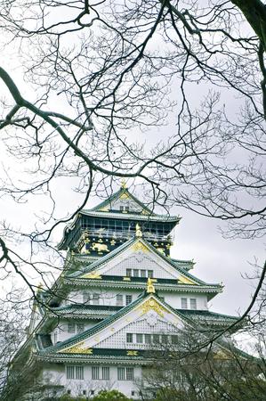osakajo: Osaka, Japan - city in the region of Kansai. Osaka-jo castle. Editorial