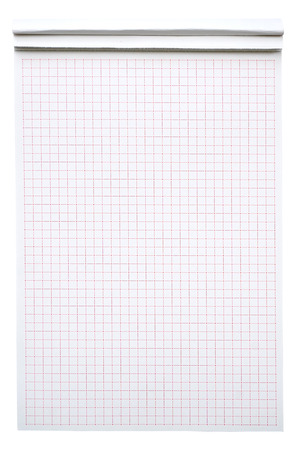 White squared notebook, for background photo