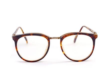 Vintage Brille auf einem weißen Hintergrund Standard-Bild - 33888868