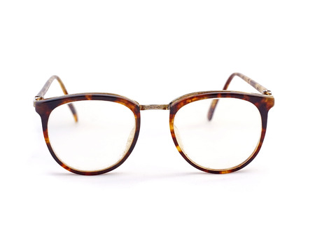 vintage glasses isolated on a white background