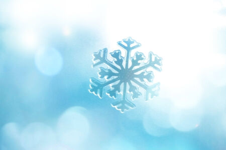 Winter Holiday Snow Background, Blue Bokeh. photo