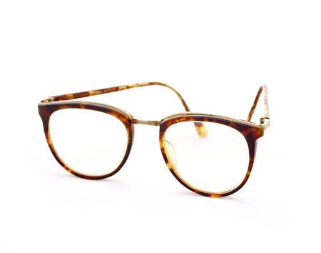 흰 배경에 고립 된 빈티지 안경 스톡 콘텐츠