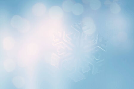 ice crystal: ice crystal on snow in blurred background Stock Photo