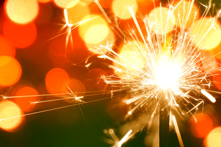 colorful sparkler, New Year celebration