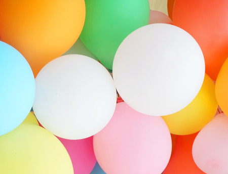 Colorful many balloons for background photo