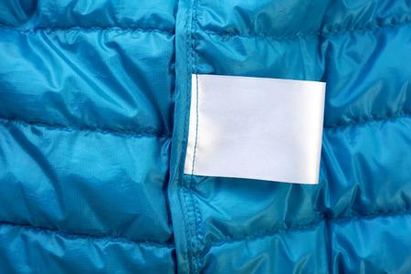 etiquetas de ropa: Instrucciones de cuidado de la etiqueta de cuidado de tela maqueta en blanco