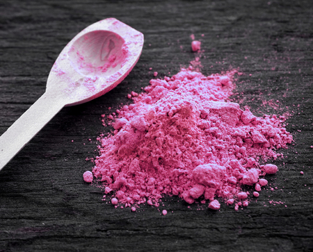Pink colored powder