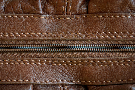 leather with zipper texture (close up) photo
