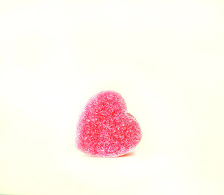 st valentin: sugary heart shaped candy with empty space for your text Stock Photo