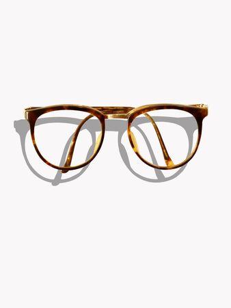 Hipster eyeglasses and shadow (retro tone) photo