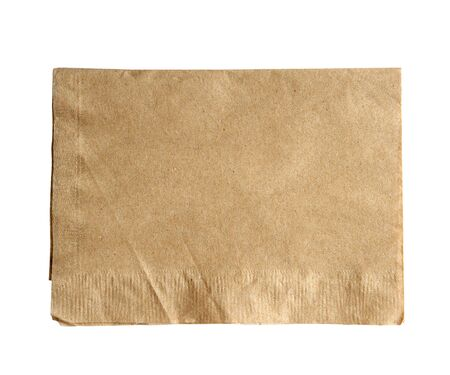 Brown: brown napkin isolate on white (clipping path)