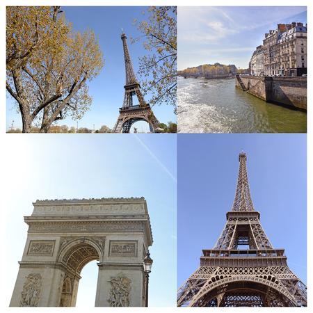 Paris collage photo