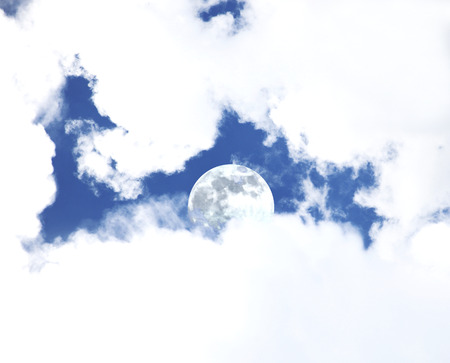 Moon behind the clouds