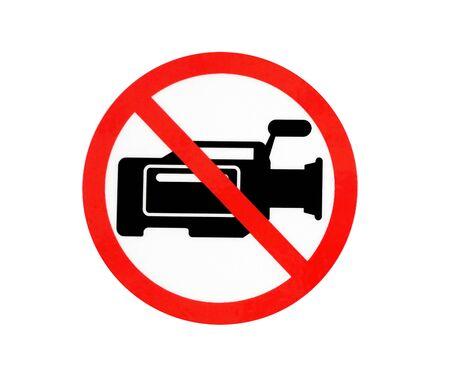 vdo: no vdo camera sign symbol Stock Photo