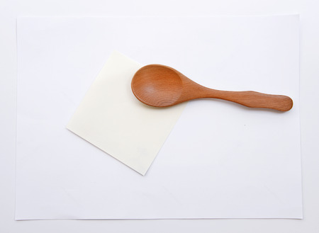 cooking implement: blank white paper on white background