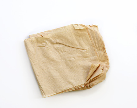 Recycle Tissue paper on isolated White background
