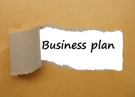 tear paper: Business plan strategy, with tear paper