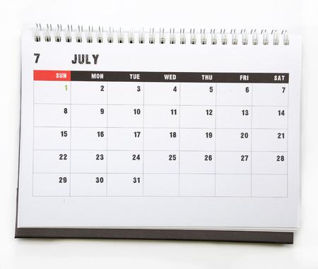 july calendar: Julio - calendario