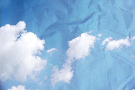 grunge image: Grunge image of blue sky. Stock Photo