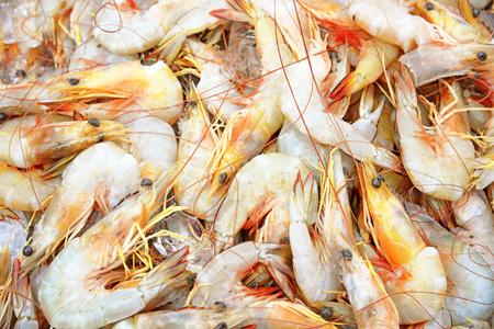 decapod: Raw Shrimp at market Stock Photo