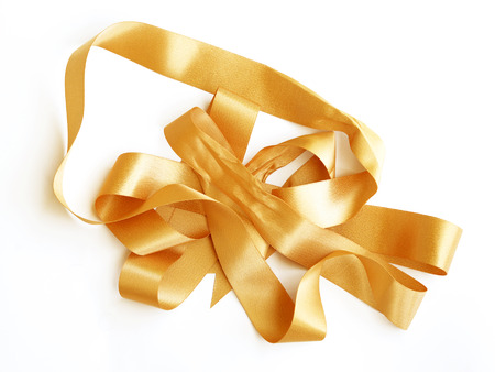 golden: Golden ribbon Stock Photo