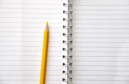 stripe pattern: yellow colored pencil on white stripe pattern blank book
