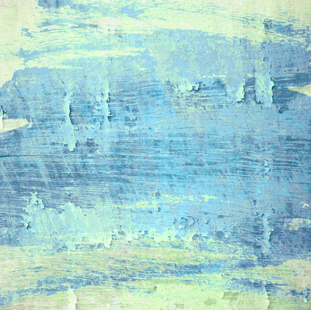at paint: Grunge light blue painted wooden textured background