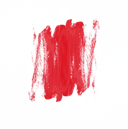peinture rouge: red paint brush texture on white background