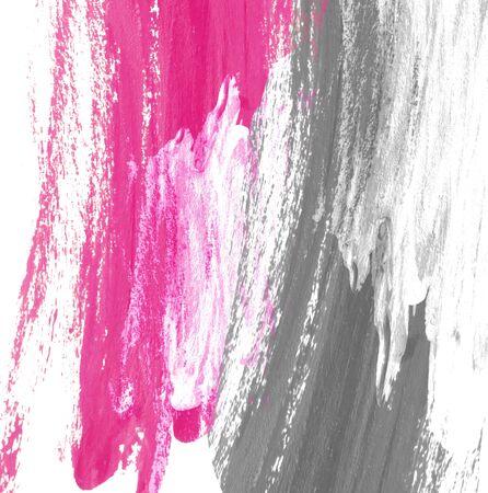colores pastel: Mano de pintura abstracta color de fondo, gris y rosa.
