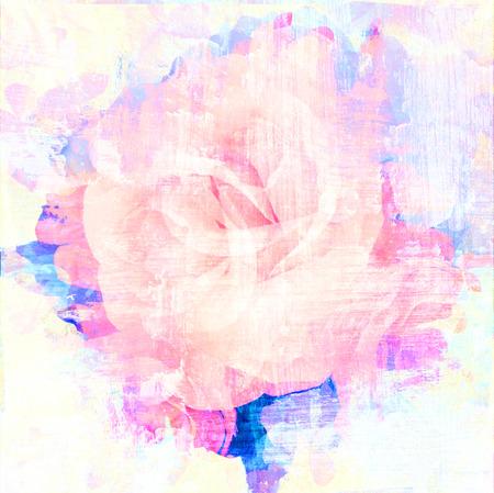 페이드 추상 질감 예술 로즈