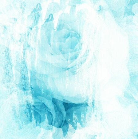 creative arts: Rose art with fade abstract texture Stock Photo