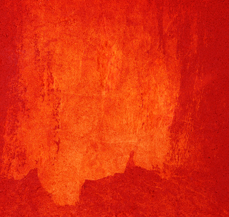 red paint: Red painted wall background